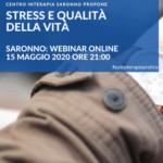 WEBINAR: STRESS E QUALITÀ' DELLA VITA 15 MAGGIO