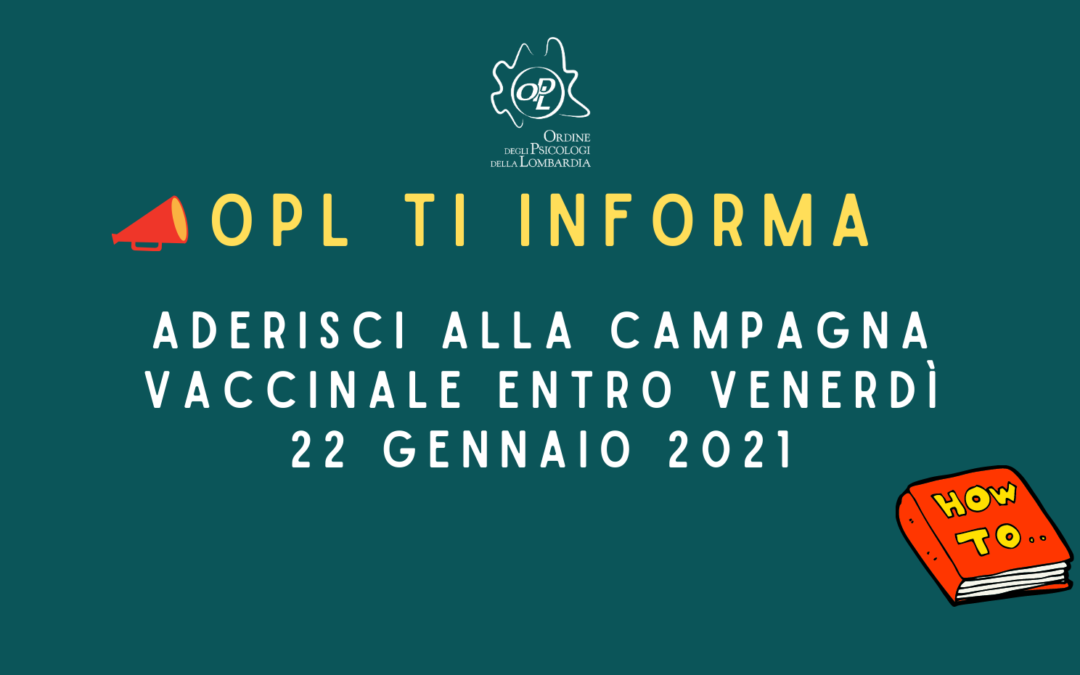 Campagna Vaccinale Per Psicologi in Lombardia